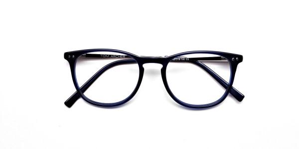 Dark Blue Round Glasses, Eyeglasses -6
