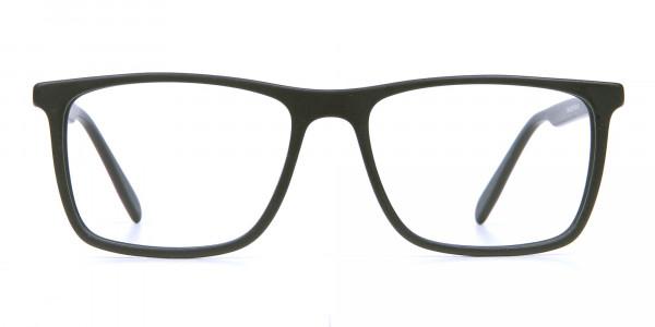 Back & Red Wayfarer Eyeglasses