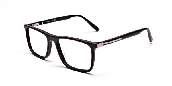 Back & Red Wayfarer Eyeglasses -2