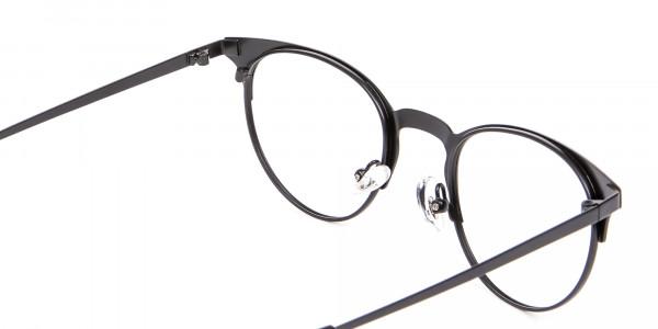 Black Cat Eye Eyeglasses Men -5