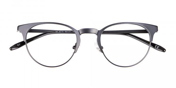 Black Cat Eye Eyeglasses Men -6