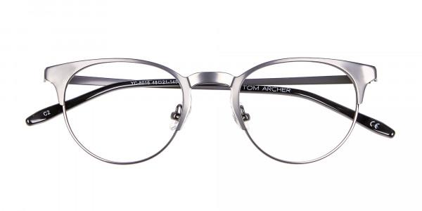 Dark Gunmetal Cat Eye Eyeglasses Men -6