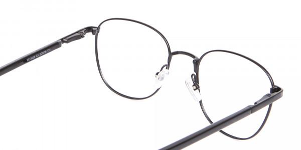 Petite Fit Thin Metal Black Wayfarer Frame-5