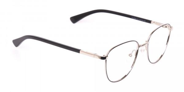 Silver Retro Wayfarer Nerd Glasses Online-2