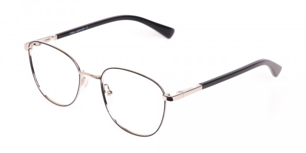 Silver Retro Wayfarer Nerd Glasses Online-3