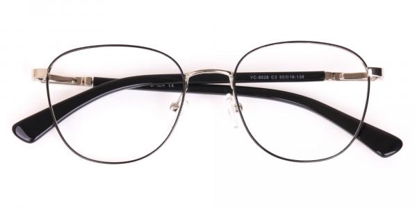 Silver Retro Wayfarer Nerd Glasses Online-6