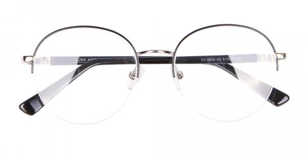 Premium Half-Rimmed Frame Silver-6