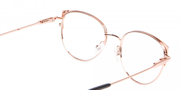 Classic Textured Glasses in Rose-Gold - 5