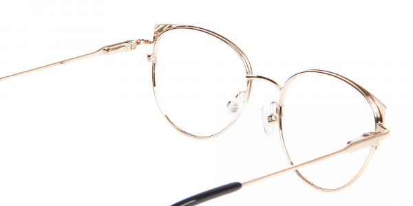 Vintage Inspired Glasses Green and Metal Frame - 5