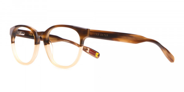 TED BAKER TB8197 Cade Glasses Classic Round Brown & Honey-3