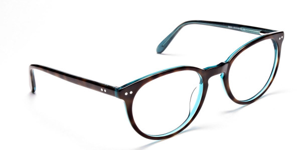 Multicolour Round Glasses - Blue, Green & Brown Glasses -1