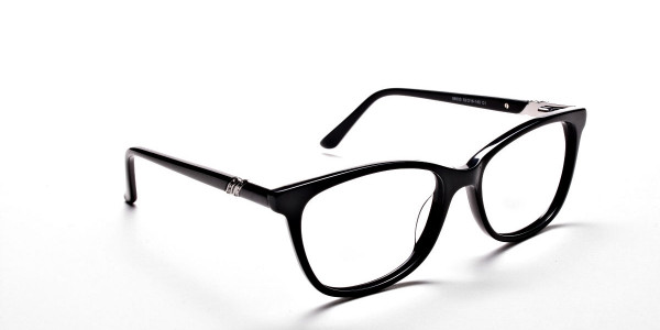 Black Diamante Glasses -1