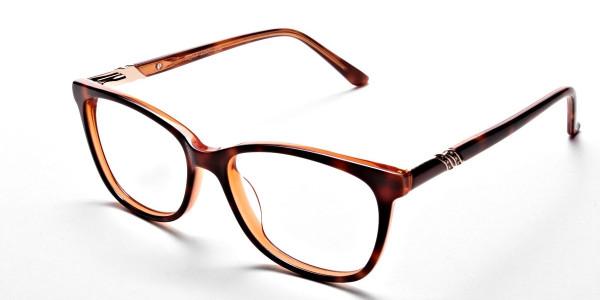 Maple Tortoiseshell Glasses with Diamante  -32
