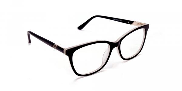 Black and White Cat-Eye Glasses -1