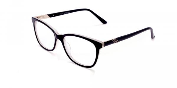 Black and White Cat-Eye Glasses -2