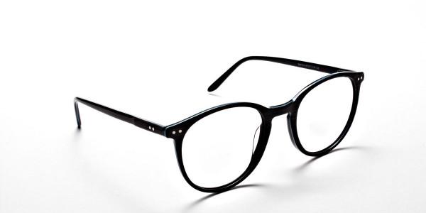 Black & Mint Round Glasses, Eyeglasses -1