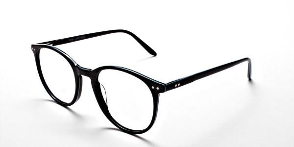 Black & Mint Round Glasses, Eyeglasses -2
