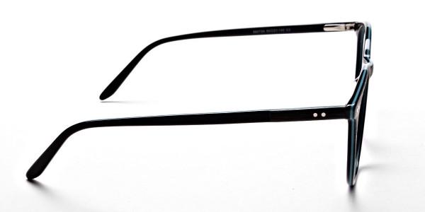 Black & Mint Round Glasses, Eyeglasses -3