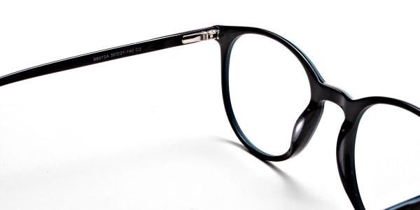 Black & Mint Round Glasses, Eyeglasses -4