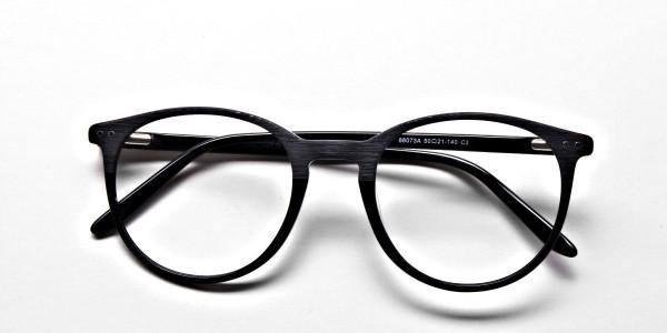 Black & Mint Round Glasses, Eyeglasses -6