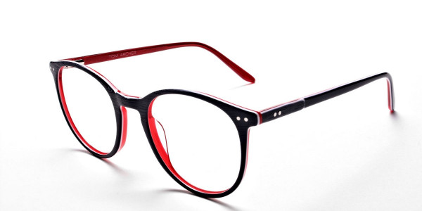 Royal Blue Round Glasses, Eyeglasses -3