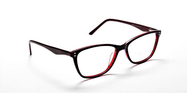 Black & Red Retro Glasses -1