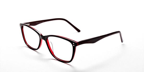 Black & Red Retro Glasses -2