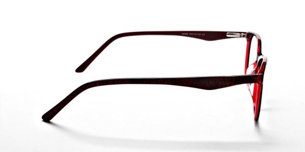 Black & Red Retro Glasses -3