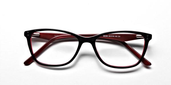Black & Red Retro Glasses -5
