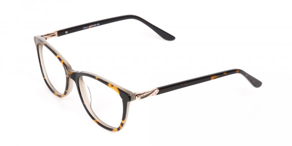Brown Tortoise Rectangular Glasses Women in Acetate-3