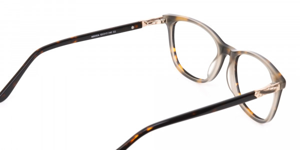 Brown Tortoise Rectangular Glasses Women in Acetate-5