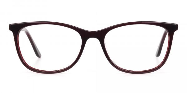 Women Purple and Burgundy Rectangular Glasses-6