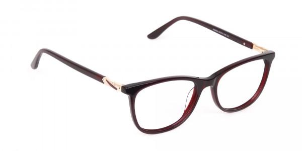 Women Purple and Burgundy Rectangular Glasses-2