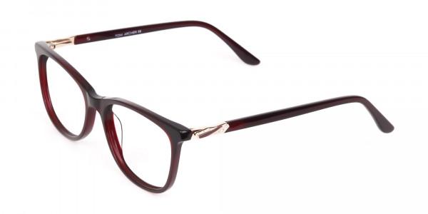 Women Purple and Burgundy Rectangular Glasses-3