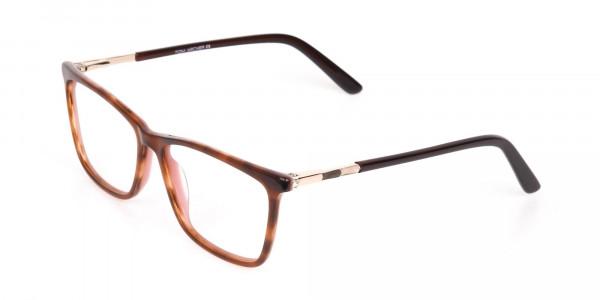 Brown, Tortoise & Nude Pink Rectangle Eyeglasses-3