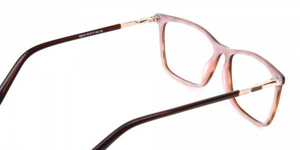 Brown, Tortoise & Nude Pink Rectangle Eyeglasses-5