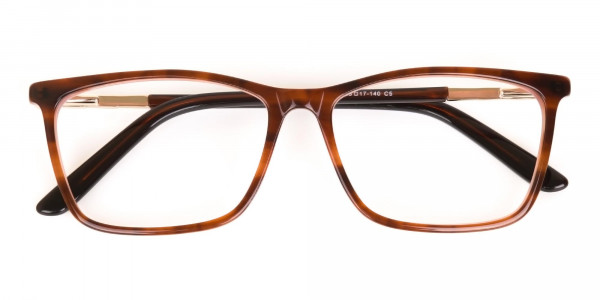 Brown, Tortoise & Nude Pink Rectangle Eyeglasses-6