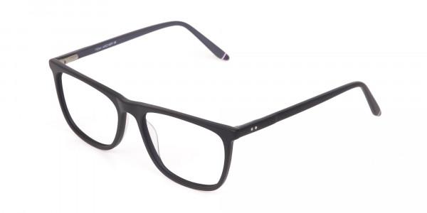 Matte Black Acetate Designer Eyeglasses Unisex-3