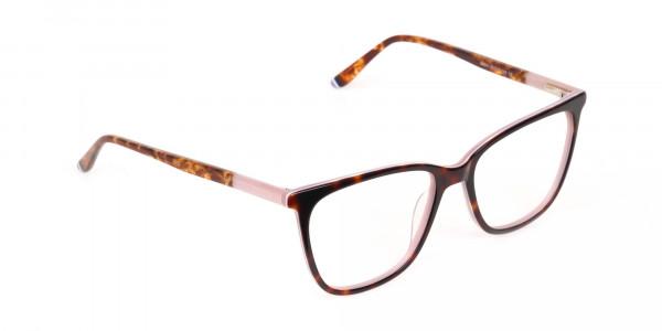 Women Designer Tortoise & Nude Pink Eyeglasses-2