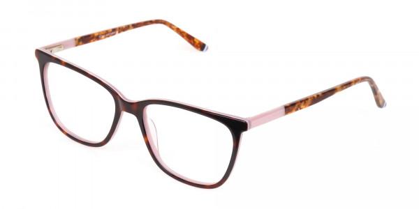 Women Designer Tortoise & Nude Pink Eyeglasses-3