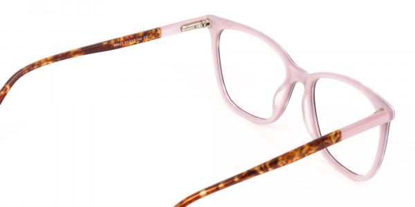 Women Designer Tortoise & Nude Pink Eyeglasses-5