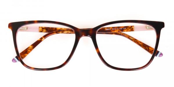 Women Designer Tortoise & Nude Pink Eyeglasses-6