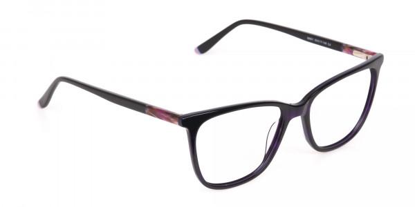 Designer Dark Violet Marble Eyeglasses Unisex-2