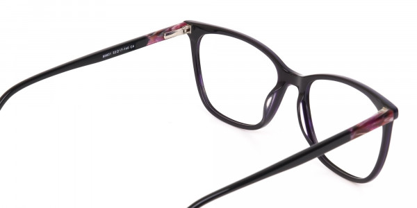 Designer Dark Violet Marble Eyeglasses Unisex-5