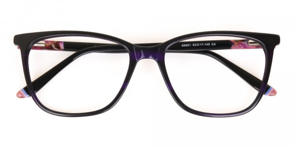 Designer Dark Violet Marble Eyeglasses Unisex-6