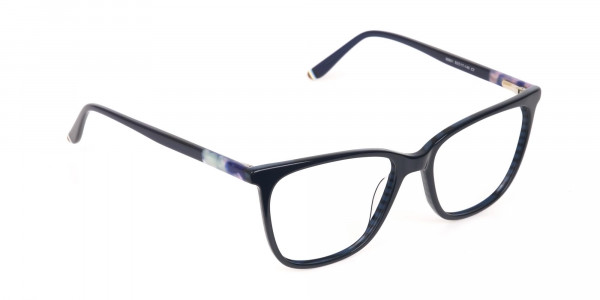 Designer Dark Dusty Blue Eyeglasses Unisex-2