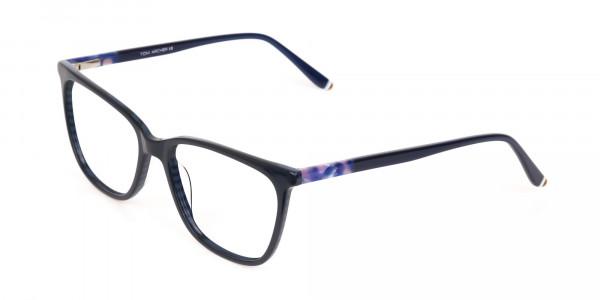 Designer Dark Dusty Blue Eyeglasses Unisex-3