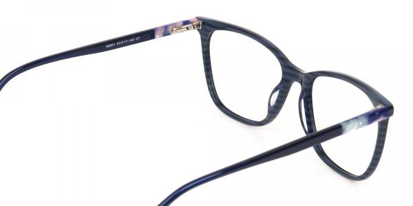 Designer Dark Dusty Blue Eyeglasses Unisex-5