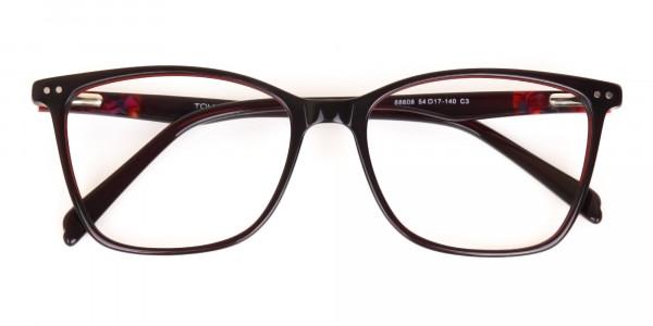 Designer Burgundy Brown Eyeglasses For Women-6
