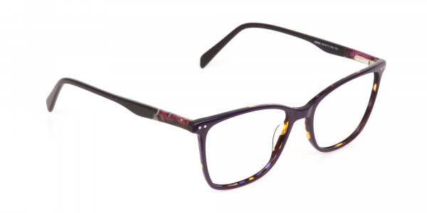 Designer Raisin Purple & Tortoise Eyeglasses Women-2